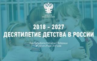План мероприятий «Десятилетия детства» направлен на разрушение института семьи.