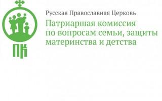 Заявление Патриаршей комиссии по вопросам семьи, защиты материнства и детства