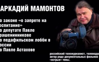 Аркадий Мамонтов: «Павел Астахов — удивительный, честный человек, любящий страну и детей»
